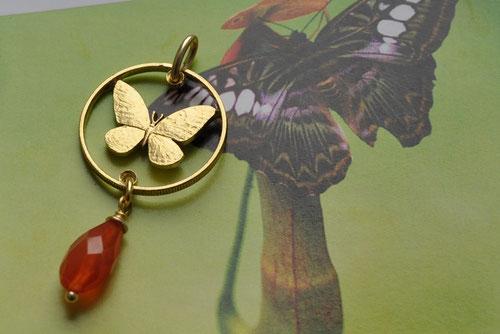 Münzsägewerk Katrin Thull   Philippinen - Schmetterling mit Stein