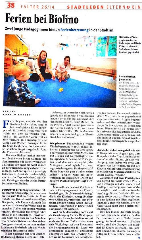 FALTER 26/14, STADTLEBEN ELTERN & KINDER, Seite 38