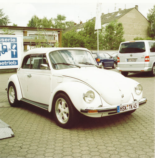 Mein 1303 Cabrio im April 2003 nach der TÜV-Abnahme...
