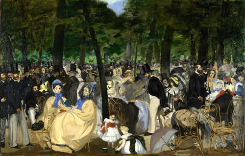 Музыка в Тюильри - самые известные картины Эдуарда Мане