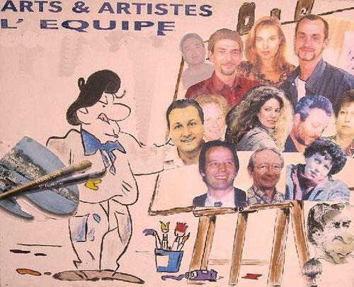 20 ans d'aventure d'Arts et Artistes, le bureau et les professeurs. Ambiance et professionnalisme assuré ....