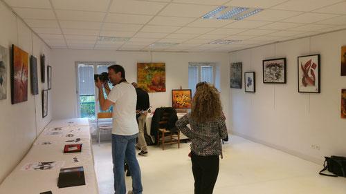 Exposition Chez Arts et Artistes avec le Journaliste de la Ville de Conflans Ste Honorine