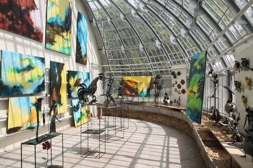 Vill'Art dans la serre du parc de château du Prieuré  juin 2022  ...A Bientôt