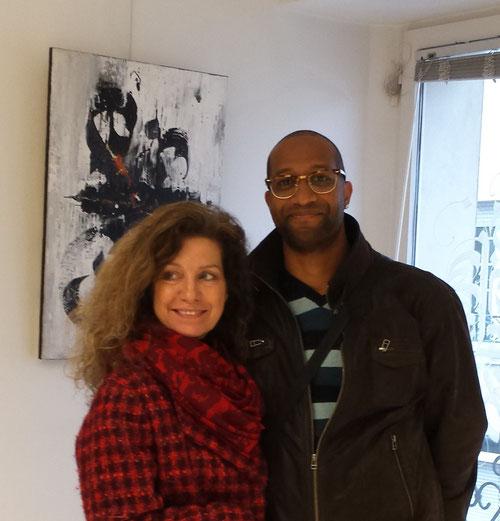 Franck Diawara artiste exposant Chez Arts et Artistes en novembre avec Pat et Marie superbe exposition pour clôturer cette année 2016        Anne-Claire