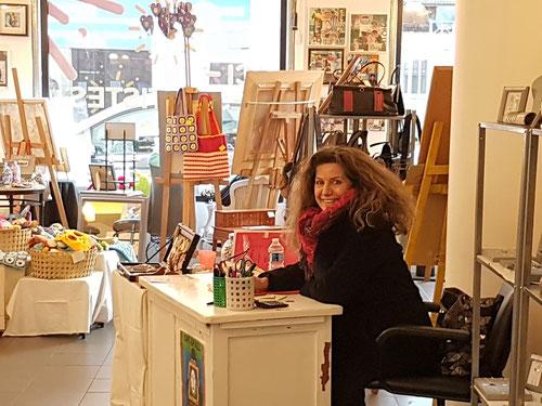 Arts et Artistes chez Pol'art à la Boutique éphémère avec mes amis de toujours du Marché Régional de l'Art encore un moment de plaisir.