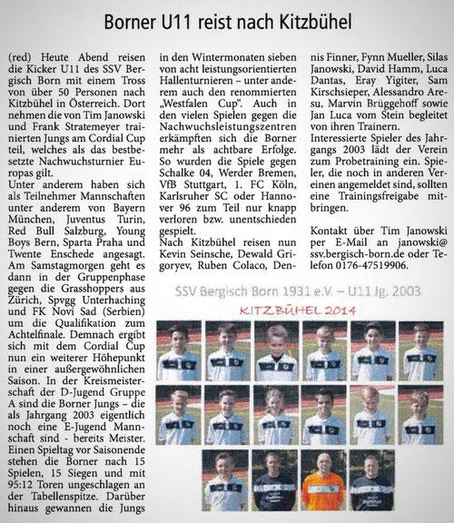 Lüttringhauser Anzeiger 05.06.2014