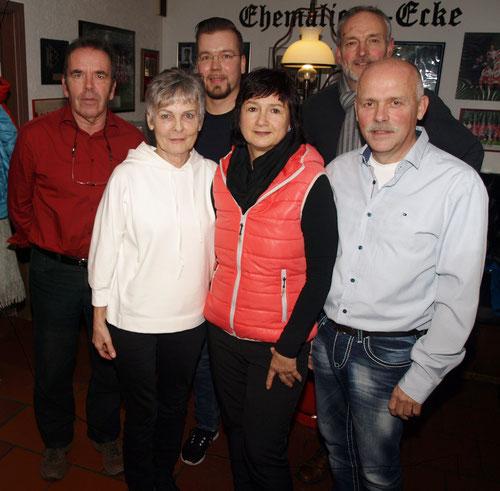 v.l.n.r.: H.H. Fehlhaber, A. Ortmann, T. Jeschke, C. Lorenz, B. Brandt, B. Lorenz (Februar/2018)