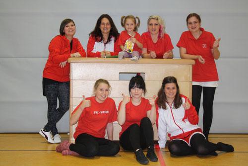 hinten: Olga, Anette, klein Emi, Marina und Sabrina. Vorne: Sina, Marie und Kira. Es fehlen: Sonja und Ludmilla