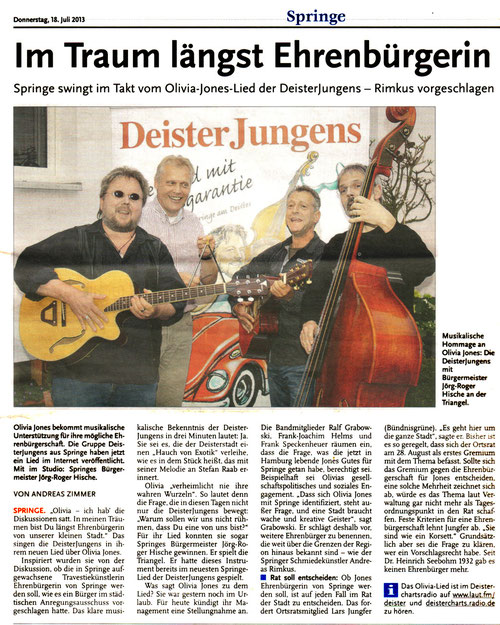 Deister Anzeiger, 18.07.2013