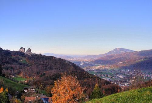 Blick vom Dürrnberg ins Salzachtal