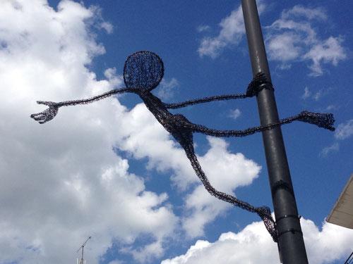 sculpture fil de fer espace public