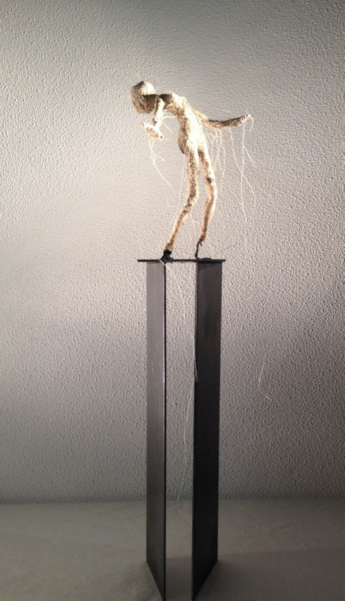 sculpture terre et fer