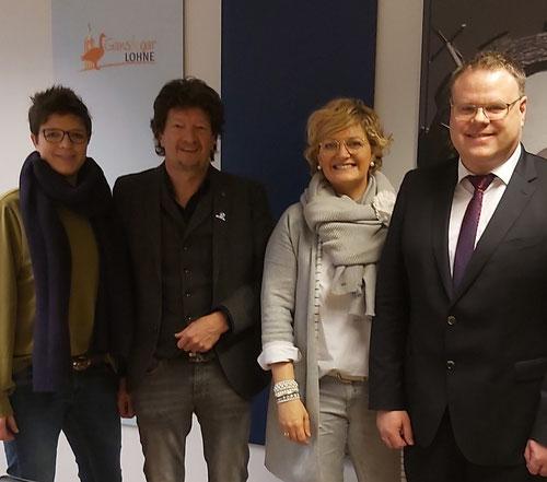 Freuen sich auf initiative IDEEN: Anne Nußwaldt (Stadt Lohne), Detlef Bornhorst (1. Vorsitzender HGV), Nicki Rösener (Leitung Citymarketing) und Tobias Gerdesmeyer (Bürgermeister der Stadt Lohne)