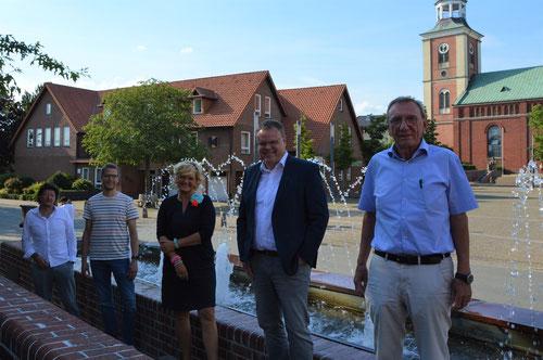 Die Jury (von links): Detlef Bornhorst, Henning Trenkamp, Nicki Rösener, Bürgermeister Tobias Gerdesmeyer und Hermann Fahling