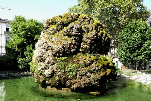 Fontaine mossue auf dem Square Planchon, Montpellier