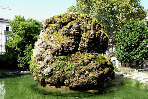 Fontaine moussue auf dem Square Planchon, Montpellier