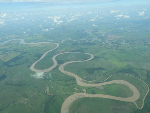 El río Vichada cambió su cauce a raíz del impacto del meteorito. Foto (cc): Instituto Humboldt.