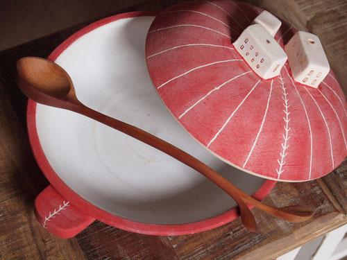 大きな浅鍋(蓋つき)
