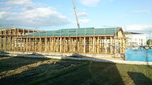 建設中の中新田幼稚園・なかよしこども園の園舎