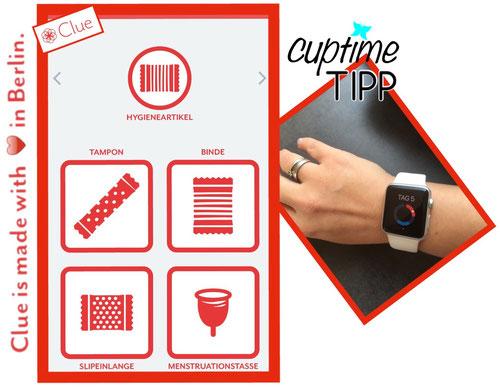 toll und auch für die Apple Watch - als Monatshygieneartikel kann man sogar die Menstruationstasse auswählen, wenn frau damit ihre Tage fängt