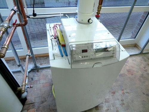 Wärmequelle: Buderus 30 kW Ölbrenner