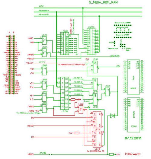 Schaltung des Mega-Flash Moduls - buebchens jimdo page!