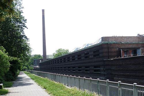 Ehemaliges Straßenbahn-Depot Badstraße, heute Uferstudios © Diana Schaal