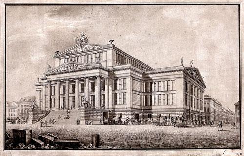 Karl Friedrich Schinkel, Schauspielhaus, ca. 1830