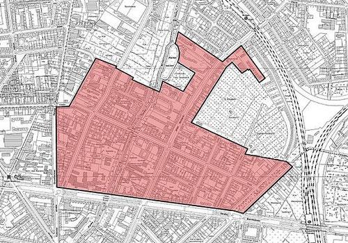 Gebietskarte des Quartiersmanagements Soldiner Kiez