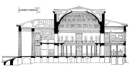Karl Friedrich Schinkel, Rotunde des Alten Museums, 1824