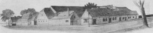 Das Vorwerk Wedding auf einer Zeichnung von 1886