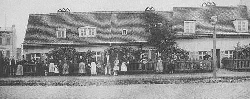 Kolonistenhäuser in der Koloniestraße 21,  Foto von 1890