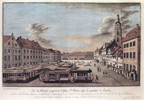 Johann Georg Rosenberg, Neuer Markt mit der Marienkirche, 1785