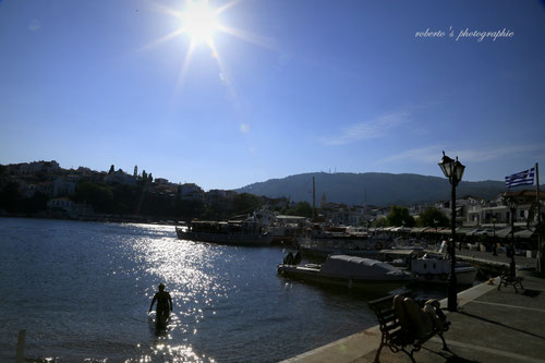 greece / skiathos / old port