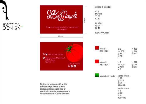 Impaginazione grafica biglietti da visita