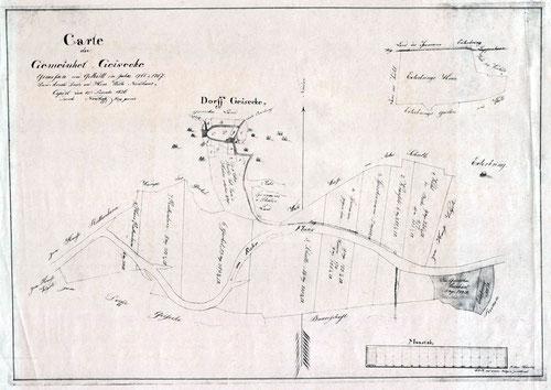 Carte der Gemeinheit Geisecke, 1766/67 Stadtarchiv Schwerte KP 0064