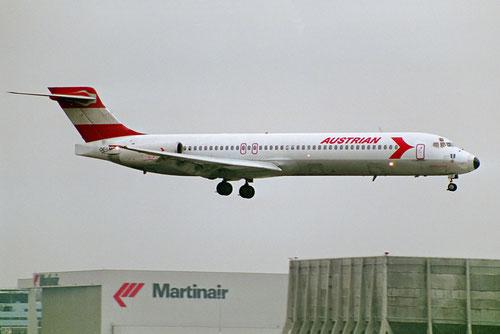 Eine der einst fünf MD-87 von Austrian Airlines/Courtesy: Sandor van Maaren