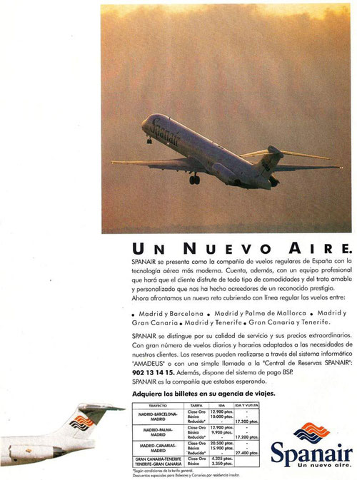 Die MD-80 als Werbeinstrument/Courtesy: Spanair