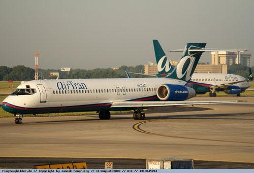 Bald Vergangenheit: die Boeing 717 im Farbkleid der AirTran/Courtesy: Jannik Femerling