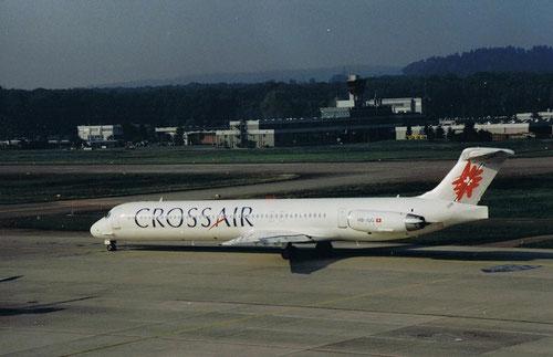 Crossair MD-83 in Zürich/Courtesy: Norbert Hahn