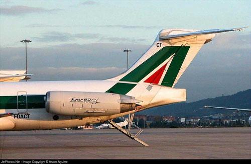 """""""Super 80"""" auf einer MD-82 der Alitalia/Courtesy: Ander Aguirre"""