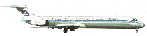 MD-88 der Aviaco/Courtesy: Aviaco