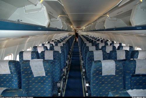 3+2-Konfiguration in Flugrichtung an Bord einer MD-87 der Iberia/Courtesy: Gustavo Bertran Gonzalez