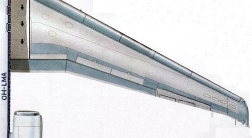 Rechte Tragfläche einer MD-87/Courtesy: Finnair