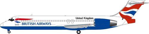 Boeing 717 im Farbkleid der British Airways/Courtesy: MD-80.com