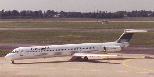 Centennial Airlines MD-83/Postkarte