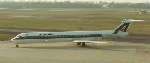 MD-82 von Alitalia - größter Abnehmer der MD-80 außerhalb der USA/Privatsammlung