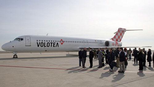 Vorstellung der ersten Boeing 717 in Venedig/Courtesy: Volotea Airlines