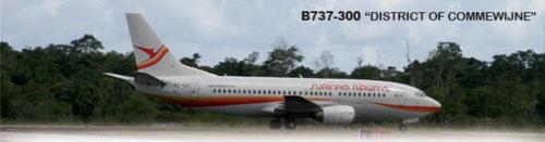 Die MD-82 wurde durch Boeing 737-300 ersetzt/Courtesy: Surinam Airways