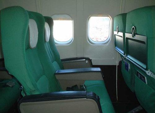 Kabinenfenster einer MD-82 der Alitalia/Courtesy: Daniele Seracco